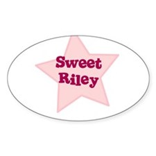 Sweet Riley Oval Decal