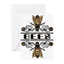Bees With Clover Greeting Cards (Pk of 10)