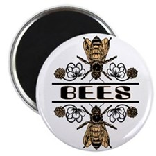 """Bees With Clover 2.25"""" Magnet (10 pack)"""