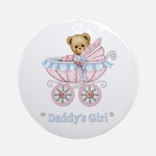 Teddy Carriage - Daddy's Girl Ornament (Round)