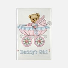 Teddy Carriage - Daddy's Girl Rectangle Magnet
