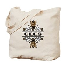 Bees With Clover Tote Bag
