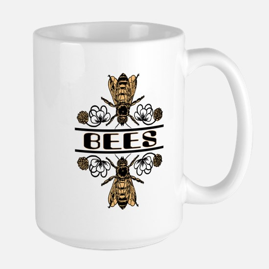 Bees With Clover Large Mug