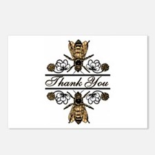 Bees With Clover Postcards (Package of 8)