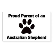 Australian Shepherd Rectangle Decal