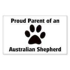 Australian Shepherd Rectangle Decal