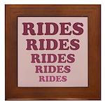 Rides Framed Tile