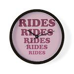 Rides Wall Clock