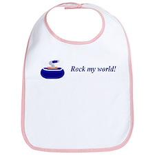 """Rock my world!"" Bib"