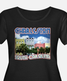 Charleston Wmn's Plus Size Black Tee