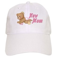 Diaper Teddy Girl - New Mom Baseball Cap
