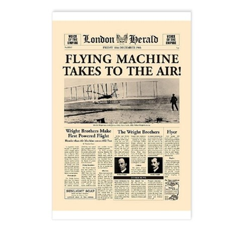 Wright Bros. Headline Postcards (Package of 8)