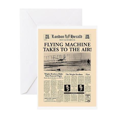 Wright Bros. Headline Greeting Card