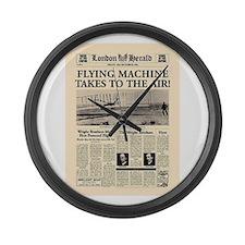 Wright Bros. Headline Large Wall Clock
