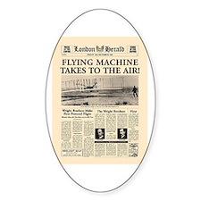 Wright Bros. Headline Oval Decal
