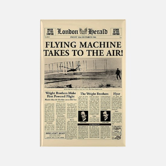Wright Bros. Headline Rectangle Magnet