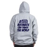 A Boombox Can Change the World Zip Hoodie