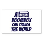 A Boombox Can Change the World Rectangle Sticker