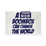A Boombox Can Change the World Rectangle Magnet