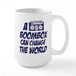 A Boombox Can Change the World Large Mug