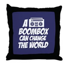 A Boombox Can Change the World Throw Pillow