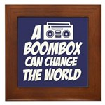 A Boombox Can Change the World Framed Tile
