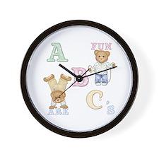 Teddy Tots Alphabet Wall Clock