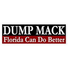 Dump Connie Mack bumper sticker