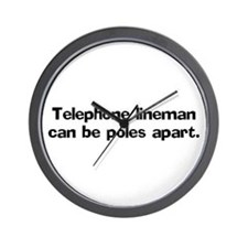 Telephone linemen can be Wall Clock