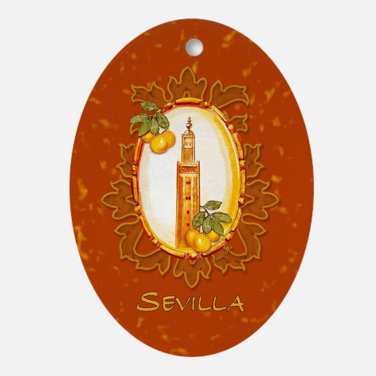 Sevilla / Spain (1) Oval Ornament