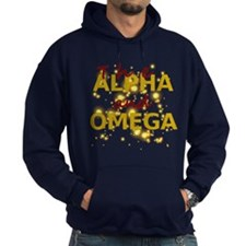 Alpha and Omega Dark Hoodie