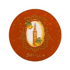 "Sevilla / Spain (1) 3.5"" Button"