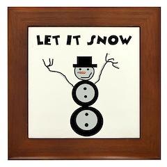 LET IT SNOW Framed Tile