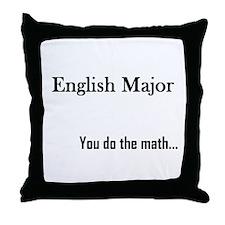 English Major Throw Pillow