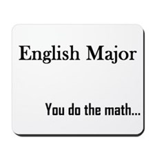 English Major Mousepad