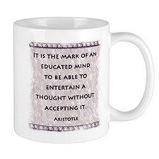 It is the mark of an educated Mug