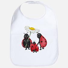 Ladybug Stroll Bib