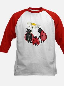 Ladybug Stroll Kids Baseball Jersey