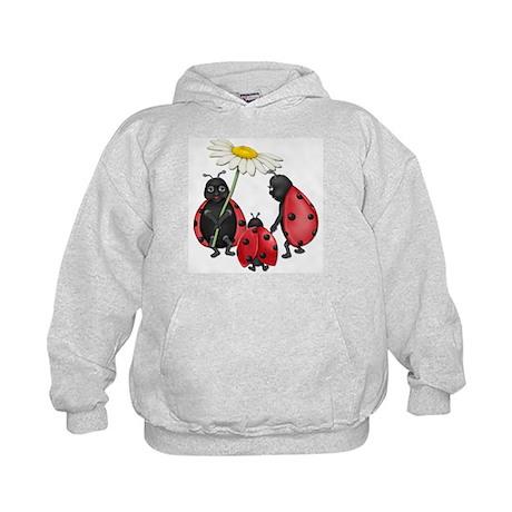 Ladybug Stroll Kids Hoodie