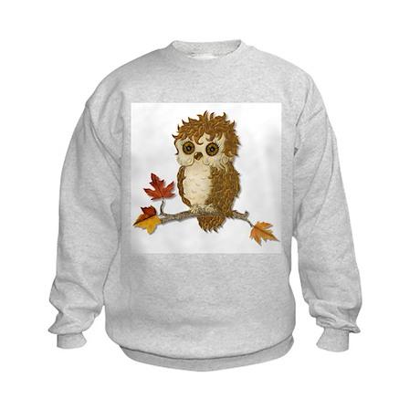 Whoo Me Owl - No Text Kids Sweatshirt