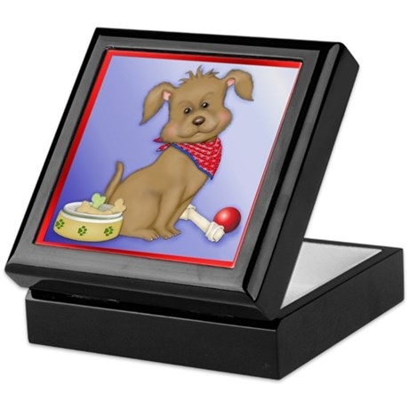 Puppy Play - Dog Art Keepsake Box