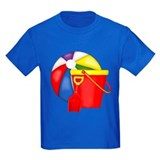 Childrens beach Kids T-shirts (Dark)
