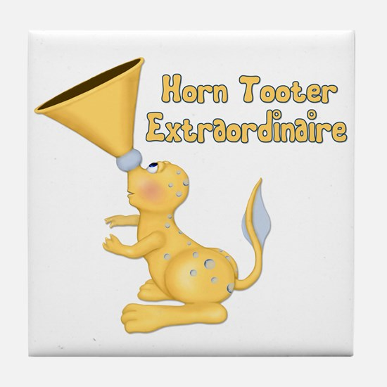 Horn Tooter Tile Coaster