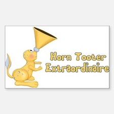 Horn Tooter Rectangle Decal