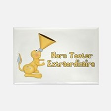 Horn Tooter Rectangle Magnet