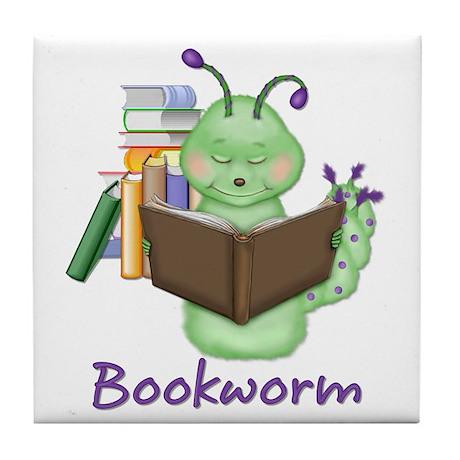 Bookworm Tile Coaster
