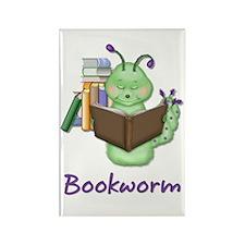 Bookworm Rectangle Magnet