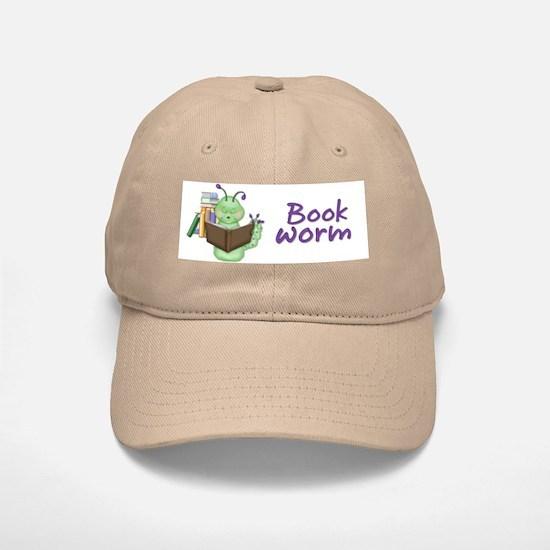 Bookworm Baseball Baseball Cap