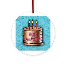 Anniversary Cake Ornament (Round)