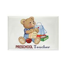 School Days Teddy - Preschool Rectangle Magnet